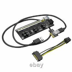 8x Ethereum Pci-e 1x À 16x Carte D'adaptateur Usb3.0 Gpu Riser Ver 009 Veddha