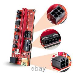 Aaawave Pcie Riser Ver 009s 1 X To16x Usb Riser Powered Adapter Card (orange)