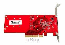 Ableconn Pexm2-130 Double Pcie Nvme M. 2 Disques Ssd Carte Adaptateur Pci Express 3.0 Carrière
