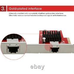 Adaptateur De Carte Réseau Pci-e Sfp 10 Gigabit Ethernet Server Rj45 10g Pour Desktop