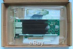 Adaptateur De Réseau Ethernet Pour Carte Pci-e À Double Port Rj45 X540 T2 10g D'oem Intel