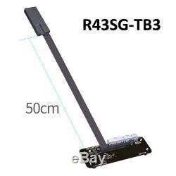 Adt-link M. 2 Clé Nvme Carte Graphique Externe Support Pci-e Câble Adaptateur R43sg-tb3