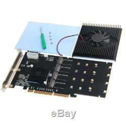 Ajouter Sur Adaptateur Cartes M. 2 Contrôleur Raid / Ssd / Carte Pci E / Pcie M. 2 Ssd Q1r4