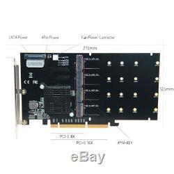 Ajouter Sur Adaptateur Cartes M. 2 Contrôleur Raid / Ssd / Carte Pci-e / Pcie M. 2 Ssd Coolin W8v8