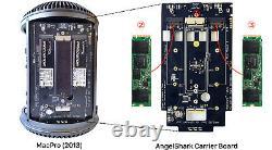 Amfeltec Angelshark Nvme Pcie Ssd 3-slot Adaptateur Carte Mac Pro 2013 Insane Speeds