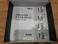 Asus Hyper M. 2 X16 Pcie 3.0 Carte D'adaptateur D'extension X4 V2 Avec 4 Nvme M. 2 Fentes