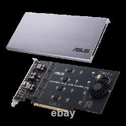 Asus Hyper M. 2 X16 Pcie 3.0 X4 Carte D'extension V2 Support 4 Carte D'adaptateur Nvme M. 2