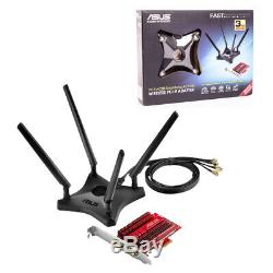Asus Pce Ac88 Wireless Pci-e Adaptateur Double Bande 2167 Mbps Carte D'interface Réseau
