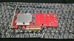 C'est Startech. Carte D'adaptateur Pcie Ssd Com Dual M. 2