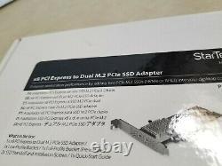 Carte Adaptateur Ssd Startech Dual M. 2 Pcie 3.0 Pex8m2e2