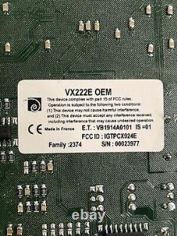 Carte D'adaptateur Audio Numérique Digigram Vx222e Pcie