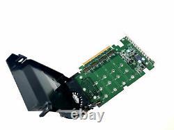 Carte D'adaptateur Quad Pcie X16 Dell Ultra-speed Drive Jusqu'à 4x Nvme M. 2 P/n 80g5n