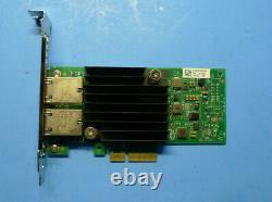 Carte D'adaptateur Réseau Intel X550-t2 Double Port Pcie 10 Go Dell 4v7g2