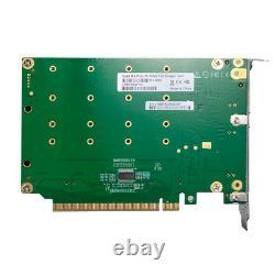 Carte D'adaptateur Ssd Nvme, Pcie X16, (4) Connecteurs Nvme M. 2, Nv95nf
