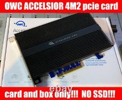 Carte D'adaptateur Ssd Owc Accelsior 4m2 Pcie M. 2 Nvme (card Seulement!)