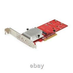 Carte D'adaptateur Ssd Pex8m2e2 De Startech Dual M. 2 Pcie X8 / X16 Dual Nvme Ou Ahci M. 2