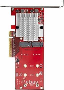 Carte D'adaptateur Ssd Startech Dual M. 2 Pcie 3.0 Ncme Pex8m2e2