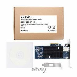 Carte Réseau Ethernet 10g Pour Puce Intel X550-t1 1x Rj45 Port Pcie V3.0 X4