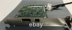 Dell 7hmhp Thunderbolt-2 Pcie X1 Card 07hmhp Support De Profil Élevé Fast Free Ship