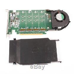 Dell Dpwc400 Ultra-speed quad Drive Nvme M. 2 Pci-e X16 Carte Adaptateur 6n9rh 80g5n