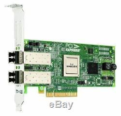 Dell Emulex Lpe12002 Deux Ports 8 GB Hba Pci-e Fibre Channel Carte Adaptateur