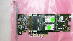Dell Jv70f 0jv70f Carte De Stockage Adaptateur Avec 2x 120go Ssd M. 2 228 Ssd