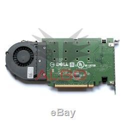 Dell Lecteur Ultra-speed quad Nvme M. 2 Pcie X16 Carte P / N 80g5n (adaptateur Uniquement)