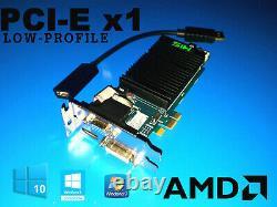 Dell Optiplex 7010 7020 990 9010 9020 Sff 1 Go Carte Vidéo + Adaptateur Hdmi Pcie X1