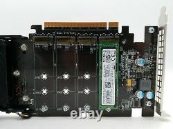 Dell Ultra-speed Drive Pcie Adapter Card Jusqu'à 4x Nvme M. 2 Ssd Avec 256 Go Ssd