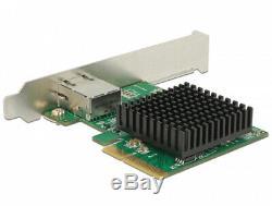 Delock Carte Pci Express 1 X 10 Gigabit Lan Adaptateur Nbase-t Réseau Rj45 89587