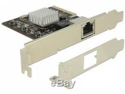 Delock Carte Pci Express 1 X 10 Gigabit Lan Adaptateur Nbase-t Réseau Rj45 89654