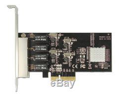 Delock Carte Pci Express 4 X Gigabit Lan Adaptateur Réseau Pcie X4 Faible 89567