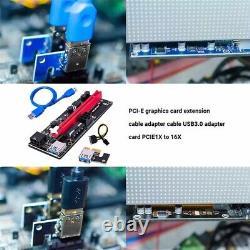 Ethereum Pci-e 1x À 16x Alimentation Usb3.0 Gpu Riser Carte Adaptateur Ver 009s