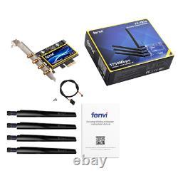 Fenvi 1750mbps Pcie Ordinateur De Bureau Carte Wifi Bluetooth 4.0 Dual Band Wireless Adapter 4
