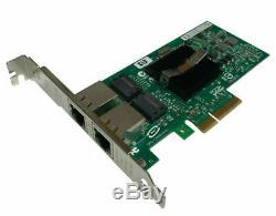 HP Nc360t Adaptateur Double Port Gigabit Nic Pcie Serveur Pcie Complet Carte De Profil