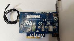 HP Pci-e To M. 2 Adaptateur Card 742006-002 Avec 256 Go M. 2 Ssd 759770-001