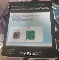 Highpoint Rocketu Ru1144cm 4 Port Usb 3.0 Pcie X4 Raid 5gbps Hba Carte Adaptateur