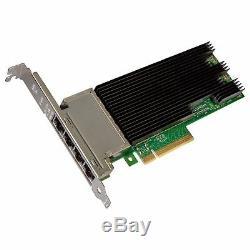 Intel 189283 Carte Réseau Convergé X710t4blk Adaptateur Réseau Quad Port Brown