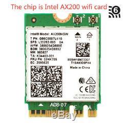 Intel Ax200 Pcie Wifi Carte Next-gen Wi-fi 6 Mu-mimo Ofdma 802.11ax Adaptateur Pci 6