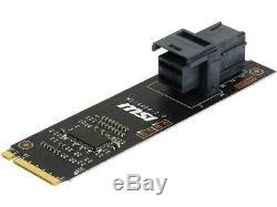 Intel Ssd 750 Series 400 Go 2.5 Pcie Câble Et Modèle Msi Turbo U. 2 Adaptateur De Carte