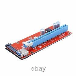 Lot 15 Broches Usb3.0 Pci-e 1x Express 16x Extender Riser Carte Adaptateur Câble D'alimentation