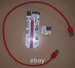 Lot 18 Usb 3 À Pcie 3.0 X16 Adaptateur Riser Card Gpu Graphics Card Mining