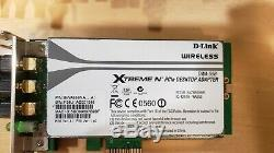 Lot De 49 Low Profile Dwa-556 Wireless Pci-e Xtreme N Desktop Adapter Card Wifi