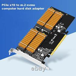 M. 2 Ngff M-key To Desktop Pcie X16 Nvme Carte Adaptateur Ssd 2242 2280 + Tournevis