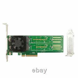 M Touche M. 2 Nvme/ngff Ssd À Pci-e X8 Carte D'adaptateur Pex-8724 Contrôleur Bifurcation