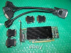 Matrox M9140 Quad DVI / Vga Moniteur 512 Mo Pcie X16 Carte Graphique + Câble + Adaptateurs
