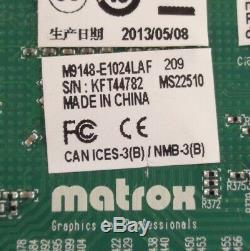 Matrox M9148-e1024laf 1 Go Pcie X16 4x Mini Dp Vidéo Carte Graphique Avec Adaptateurs