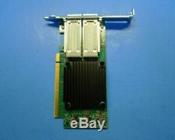 Mellanox Connectx-4 100 Gbe Double Port Pcie Qsfp28 Carte Adaptateur Réseau 0272f
