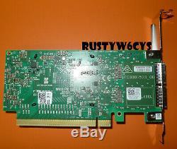 Mellanox Connectx-4 100 Gbe Double Port Pcie Qsfp28 Carte Adaptateur Réseau Dell 0272f