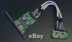 Mini Pci Express Pcie Gigabit Ethernet Nic X2 Adaptateur Carte Réseau